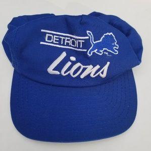 Vintage Detroit Lions NFL Snapback Cursive Annco